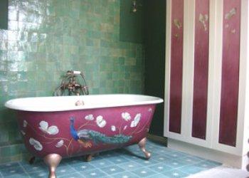 Le bain du paon !