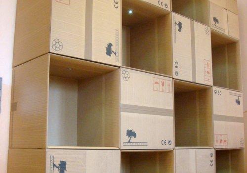 Vrais meubles en faux cartons