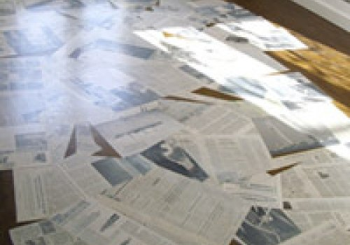 newspaper mat