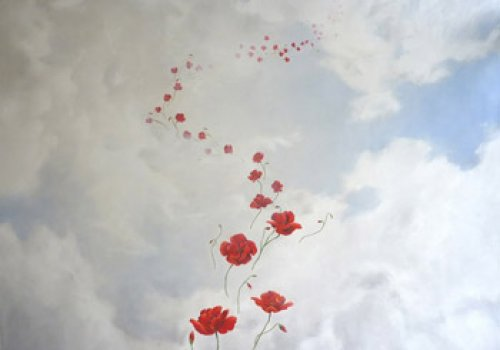 Poppies flying